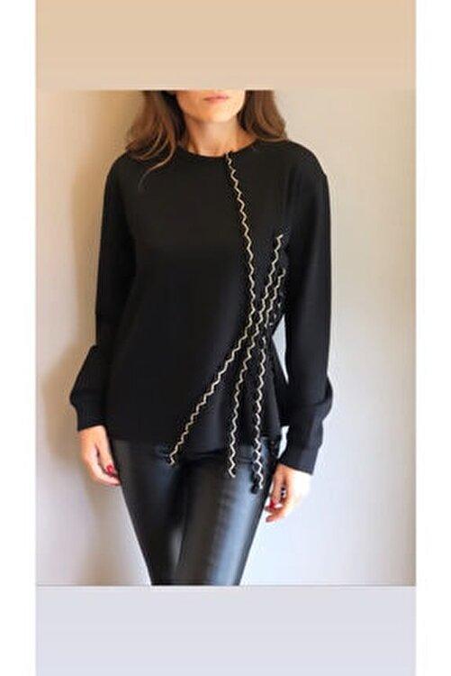 LOVEMETOO Kadın Gina Siyah Sweatshirt 18k30 1
