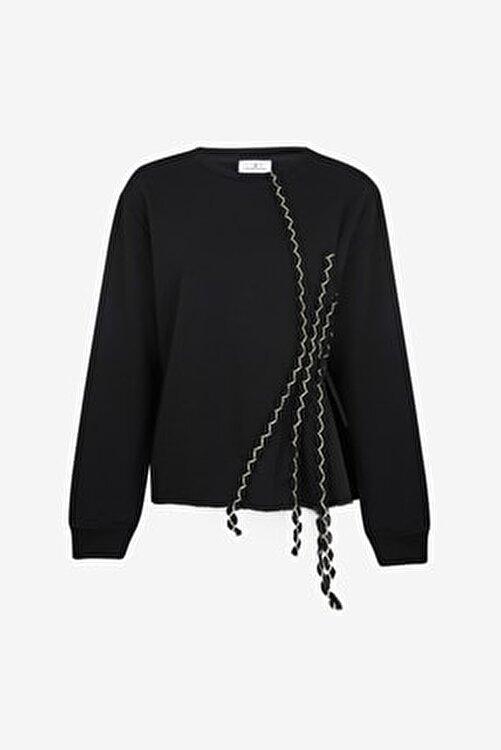 LOVEMETOO Kadın Gina Siyah Sweatshirt 18k30 2