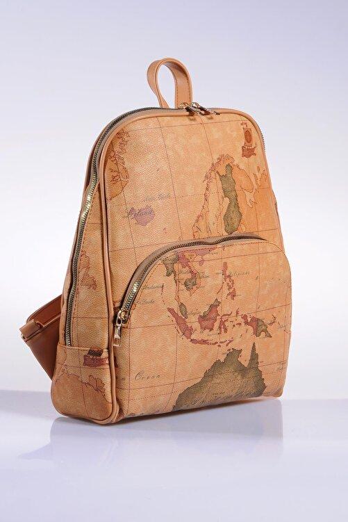 Sergio Giorgianni Luxury Sg1861 Brown Map Kadın Sırt Çantası 2