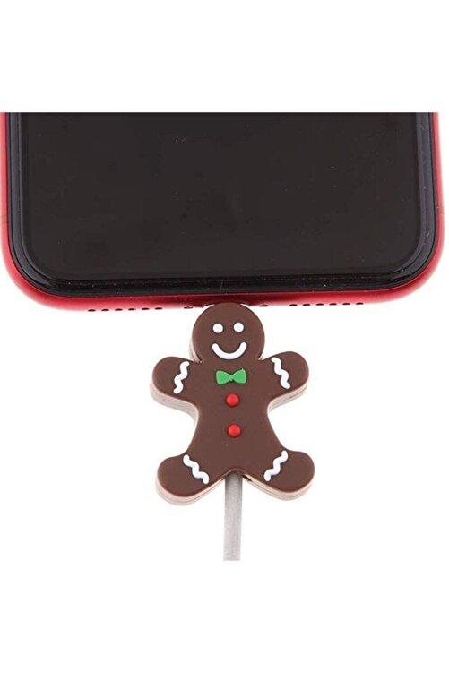 MY MÜRDÜM Sevimli Silikon Kablo Koruyucu Gingerbread Man 2