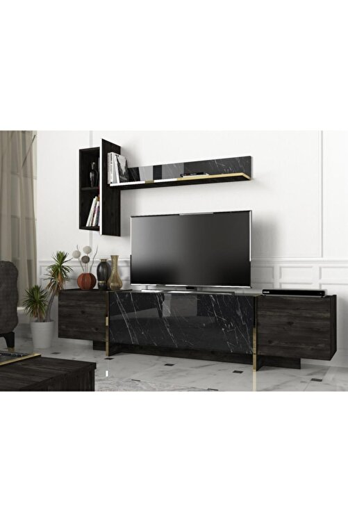 Dekorister Exclusive Veyron Tv Ünitesi Rebab-mermer 2
