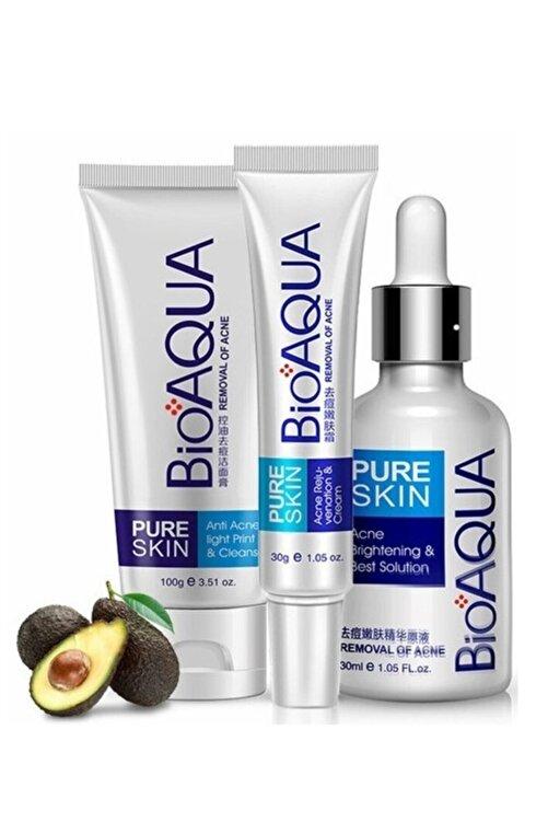Bioaqua Pure Skin Sivilceye Meyilli Ciltler için Bakım Seti 3 parça 1