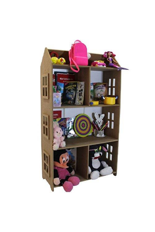 madelloon Çocuk Oyuncak Evi Bebek Oda Montessori Yatak Yanı Kitaplık Raf Oyuncak Parkı Dolabı 1