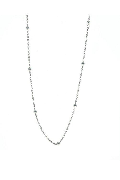 Söğütlü Silver Gümüş 45 Cm Rodyumlu Top Top Zincir 1