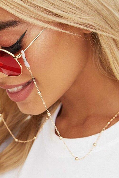 Hane14 Kadın Gold Chicminik Toplu Gözlük Zinciri 2