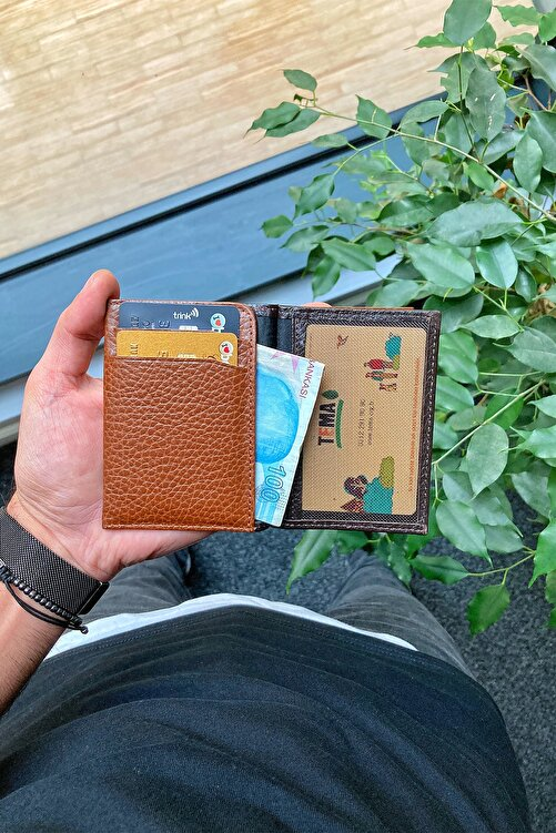 GUARD Hakiki Deri Kartlık - Para Bölmeli / Kahverengi 2