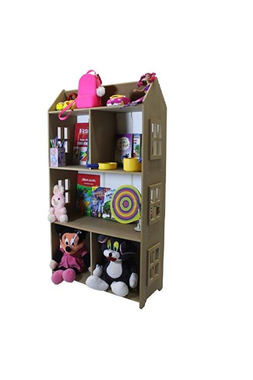 madelloon Çocuk Oyuncak Evi Bebek Oda Montessori Yatak Yanı Kitaplık Raf Oyuncak Parkı Dolabı 2