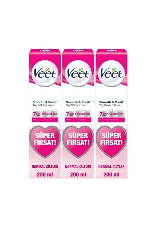 Veet Tüy Dökücü Krem Normal Ciltler Için Bacak Ve Vücut Bölgesi - 600 ml (200x3 Adet) 1