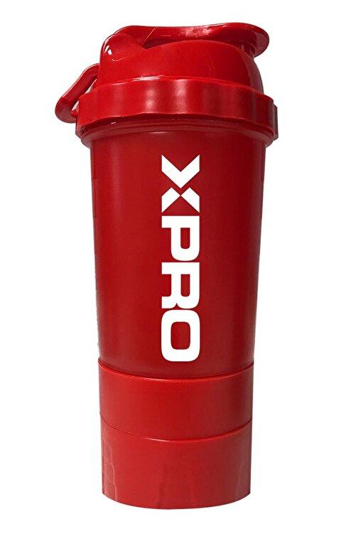 Xpro Nutrition 3 Bölmeli Shaker Kırmızı 500ml 1