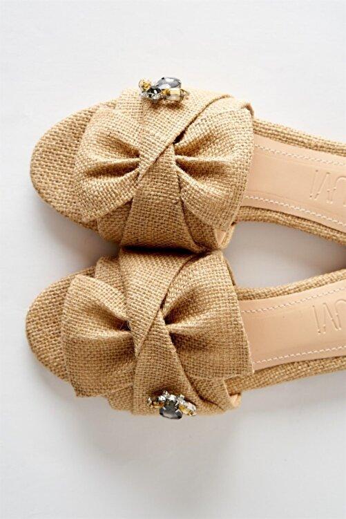 LuviShoes T01 Hasır Taşlı Kadın Terlik 1
