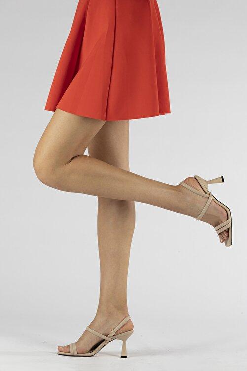 Tripy Kadın Çift Bantlı Topuklu Ayakkabı 1