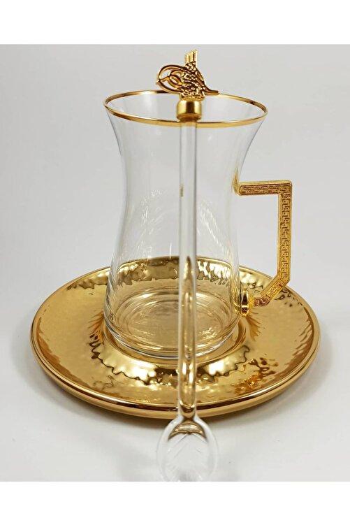 Turkuaz Crystal Tuğra Collection 18 Parça Altın Tuğra Armalı Çay Seti Takımı 2