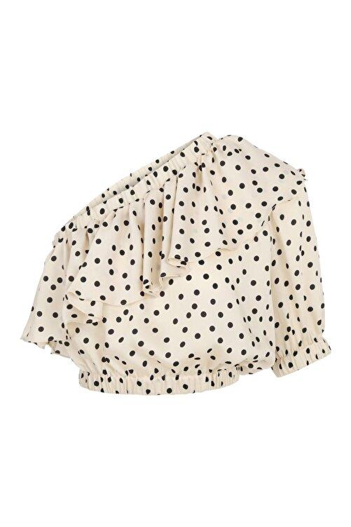 İpekyol Puantiye Desen Crop Bluz 2