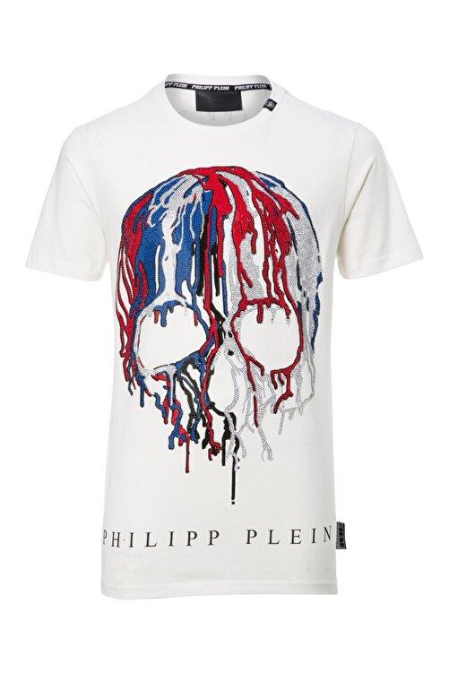 PHILIPP PLEIN Erkek T-shırt Beyaz - Sıze Xlarge 1