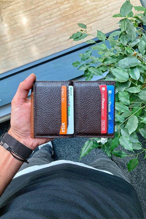 GUARD Hakiki Deri Kartlık - Para Bölmeli / Kahverengi 1