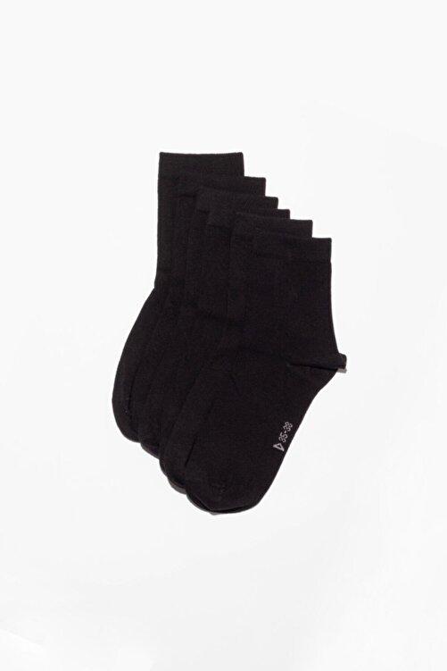 Katia&Bony 6'li Paket Unisex Basıc Soket Çorap- Siyah 1