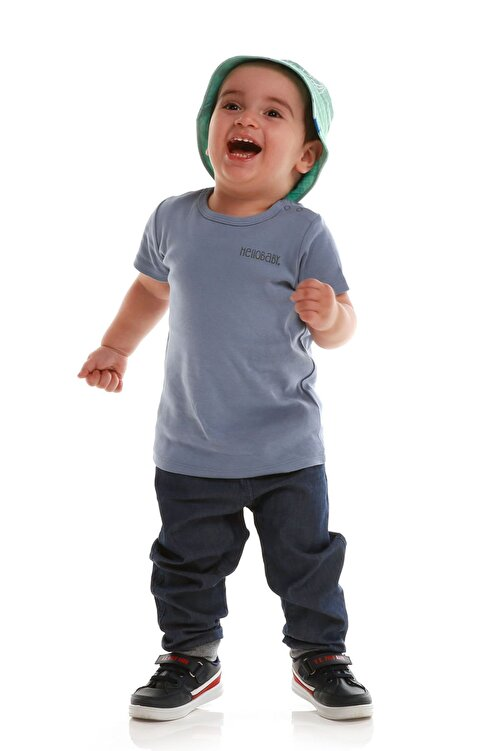 HelloBaby Basic Erkek Bebek Ribana Tshirt 1