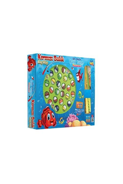 Kayyum Kırmızı Balık Kaç Kaç, Pilli, Müzikli Balık Yakalama Oyunu 24 Balık 4 Oltalı 2