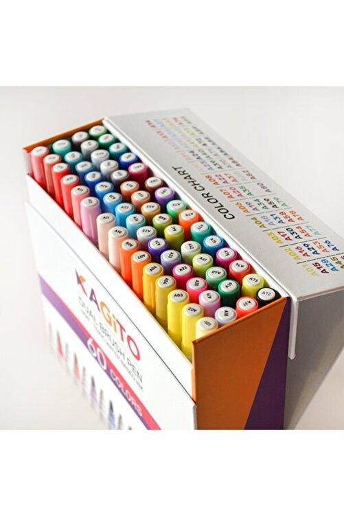kagito Çift Taraflı Brush Pen 60'lı Set 2