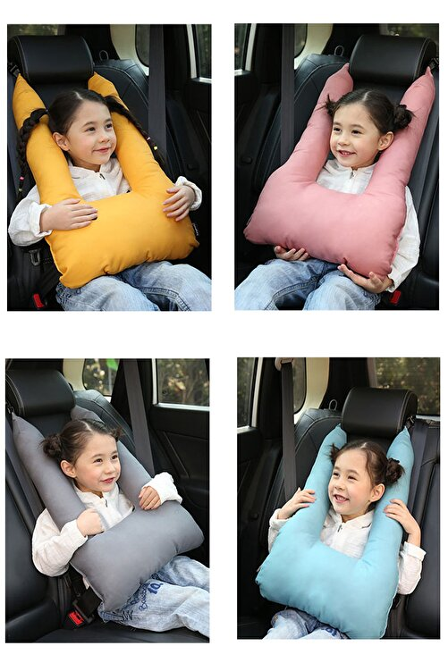 Bundera Pillow Çocuk Emniyet Kemer Yastığı Oto Emniyet Kemeri Gri 2