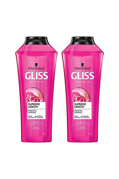 Gliss Supreme Length Uzun Saçlara Özel Şampuan 400 ML 2'li 1