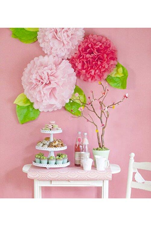 MascotShop Turuncu Ponpon Gramafon Çiçek Kağıt Doğum Günü Parti Süsü 1 Adet 2