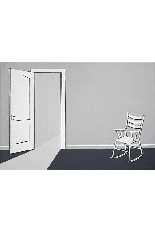Rabia Ceviz Sandalye, 35x25, Tuval Üzerine Akrilik 1