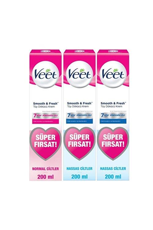 Veet Tüy Dökücü Krem Bacak Ve Vücut Bölgesi Için 400 ml Hassas Ciltler - 200 ml Normal Ciltler 1