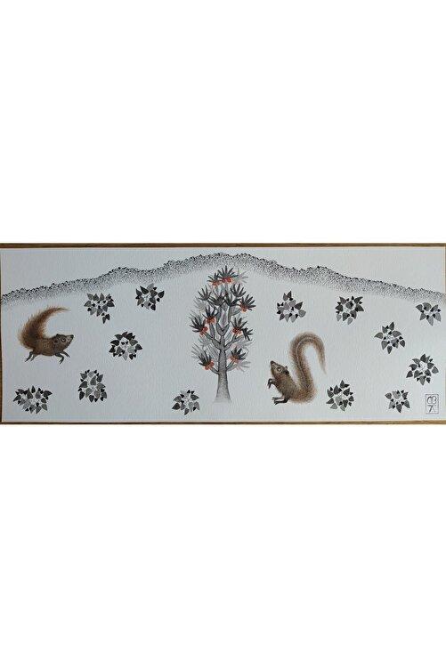 Başak Kademoğlu Hibrit Hayvanlar Serisi, 16x35, Kağıt Üzerine Suluboya 1