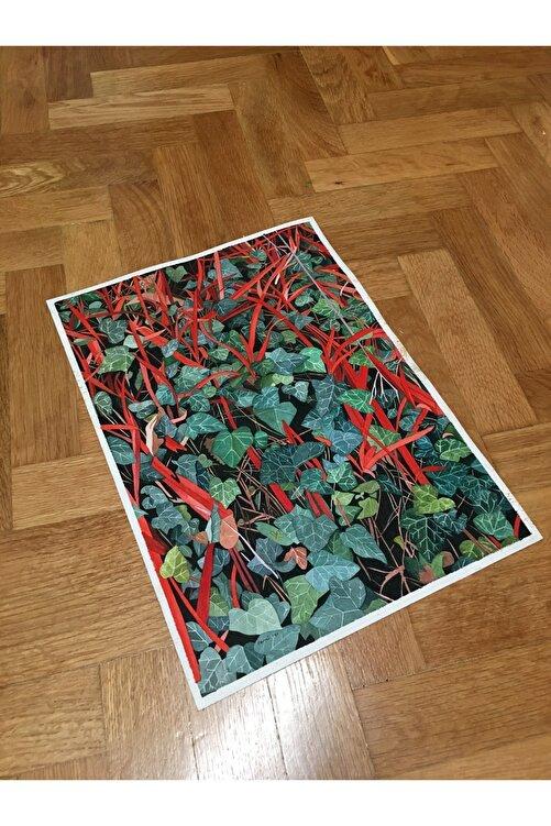 Sami Gedik Kırmızı Çizgiler 2, 34x24, Kağıt Üzerine Suluboya 2