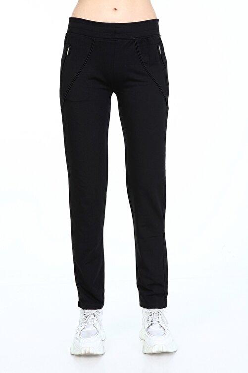 Rodi Jeans Kadın Siyah Şerit Cepli Düz Paça Eşofman Altı Ty21kb092034 2