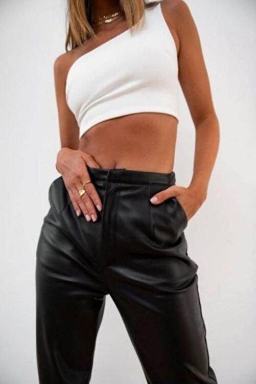 Fashiontayt Deri Pantolon 2