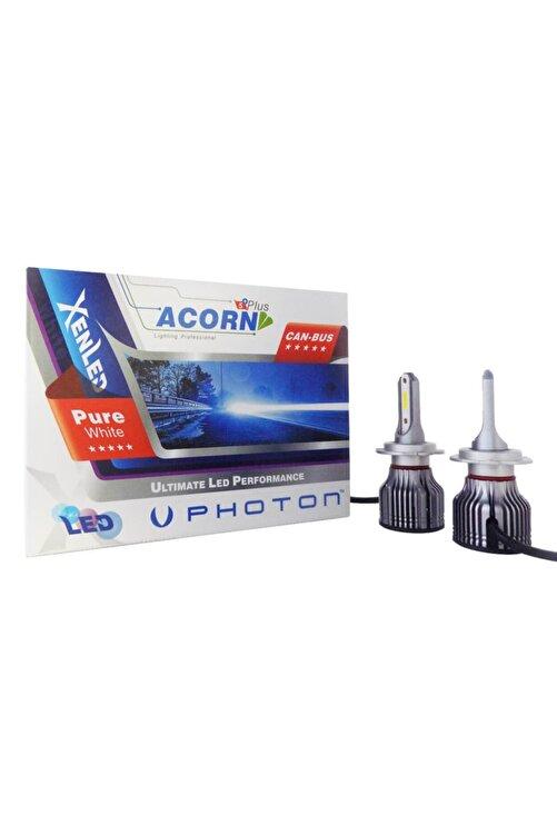 Photon H7 Acorn Mini Led Xenon Şimşek Etkili Beyaz Zenon Far Ampulu 1