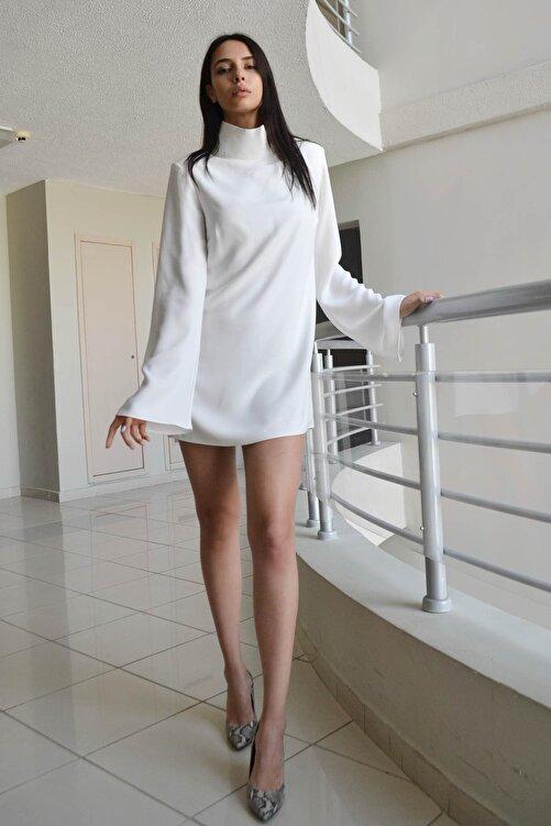 Eclectic Beyaz Dikyakalı Elbise 1