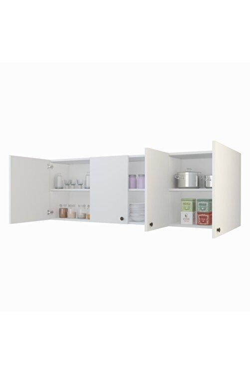 Kenzlife Hazır Mutfak Marina Byz 060*150*32 Mutfak Banyo Dolabı Kapaklı Raflı 1