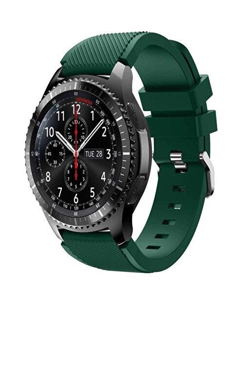 TahTicMer Huawei Watch Gt 46mm Sport Kordon Silikon Koyu Yeşil 1