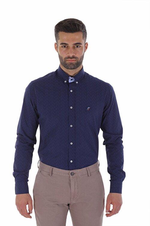 Diandor Erkek Gömlek Laci-Mavi/Navy-Blue 1822016 1