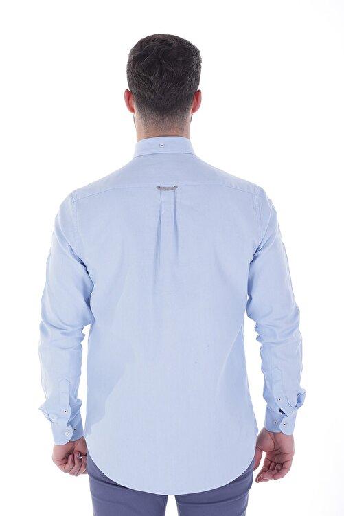 Diandor Uzun Kollu Rahat Kalıp Erkek Gömlek A.Mavi/L.Blue 1822001 2
