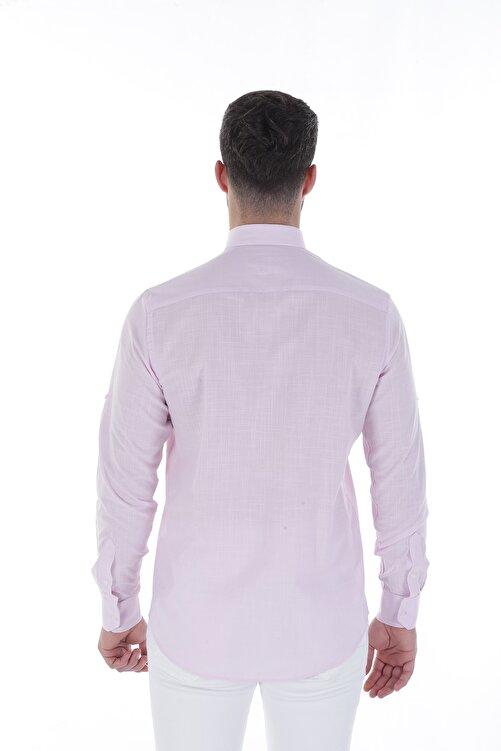 Diandor Uzun Kollu Rahat Kalıp Erkek Gömlek Pembe/Pink 1812013 2
