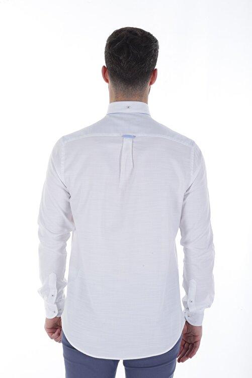 Diandor Uzun Kollu Regular Fit Erkek Gömlek Beyaz/White 1822014 2