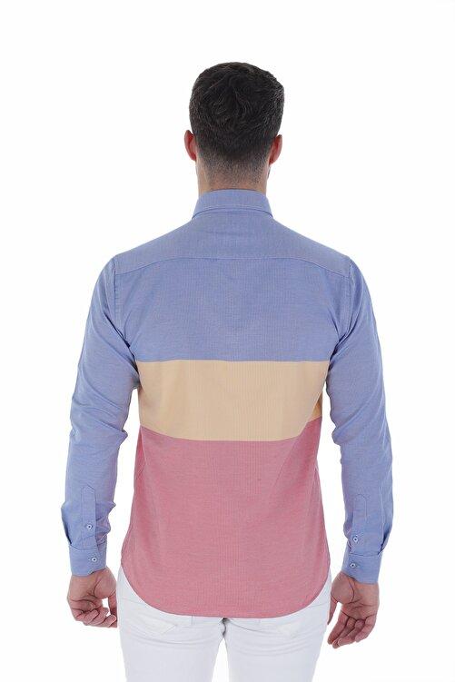 Diandor Uzun Kollu Slim Fit Erkek Gömlek V1 1912032 2