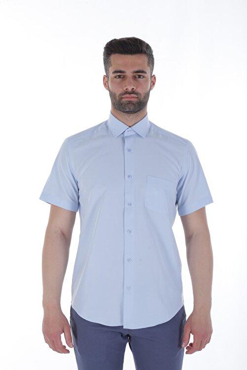 Diandor Kısa Kollu Erkek Gömlek A.Mavi/L.Blue 1912618 1