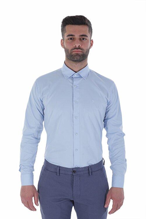 Diandor Uzun Kollu İtalyan Yaka Erkek Gömlek V1 1912024 1
