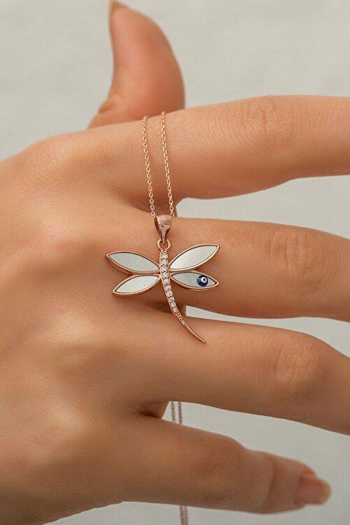 Papatya Silver 925 Ayar Rose Altın Kaplama Yusufçuk Gümüş Kolye 2