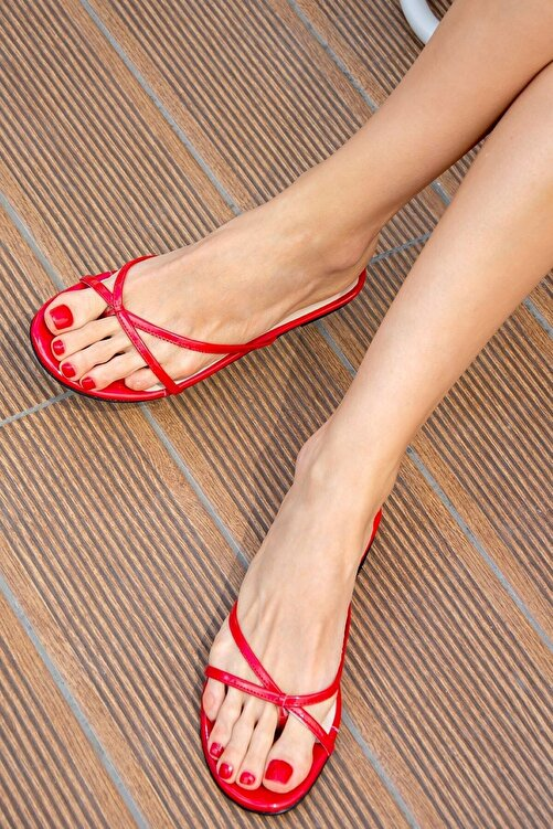 Fox Shoes Kırmızı Kadın Terlik H650332408 2