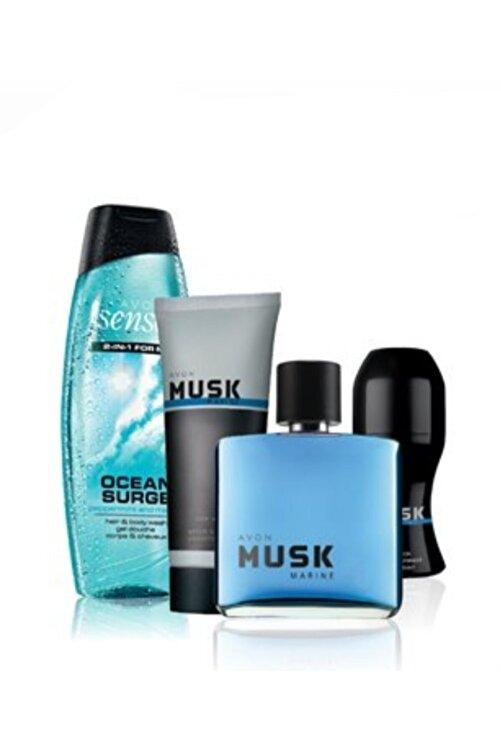 AVON Musk Marine Erkek Parfüm Seti Orjınal Set 1