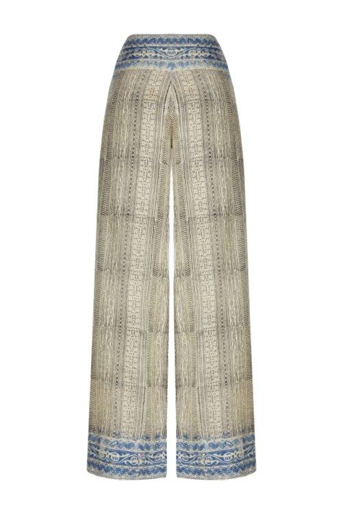 Meltem Özbek Kadın Vizon Hint Kumaşı Uzun Pantolon 2