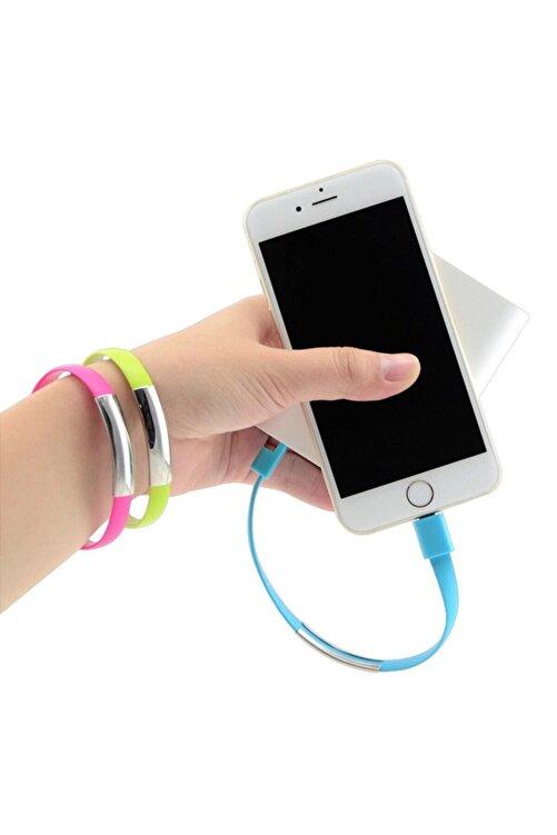 CODEGEN Apple Lightning Uyumlu Siyah Bileklik Şarj Data Kablosu 2