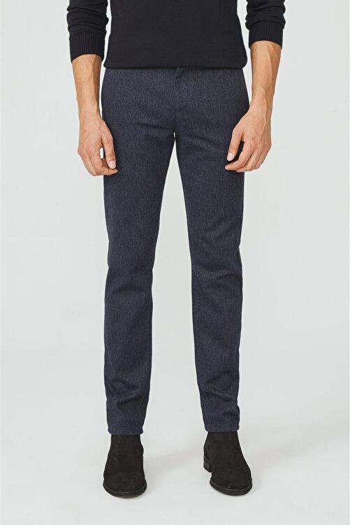 Avva Erkek Lacivert Yandan Cepli Flanel Slim Fit Pantolon A02y3057 1
