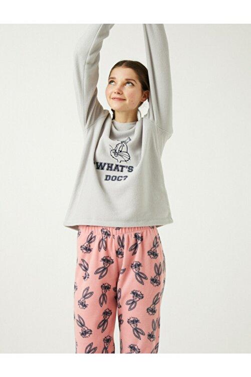 Koton Kadın Pembe Warner Bros Lisanslı Bugs Bunny Temalı Pijama Takımı 1